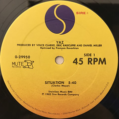 YAZ:SITUATION(LABEL SIDE-A)