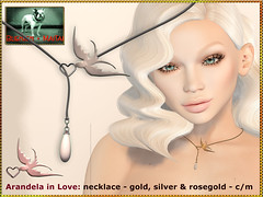 Bliensen - Arandela in Love - necklace - 3 metals