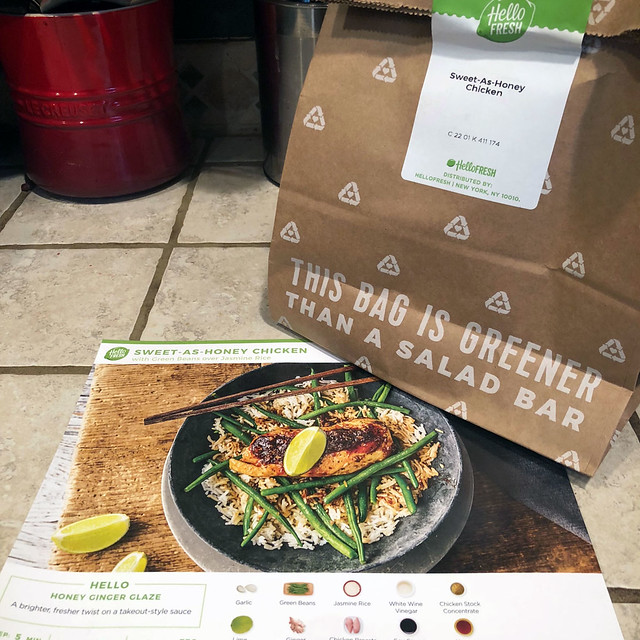 HelloFresh Sack and Card