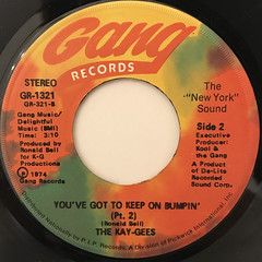 THE KAY-GEES:YOU'VE GOT TO KEEP ON BUMPIN'(LABEL SIDE-B)