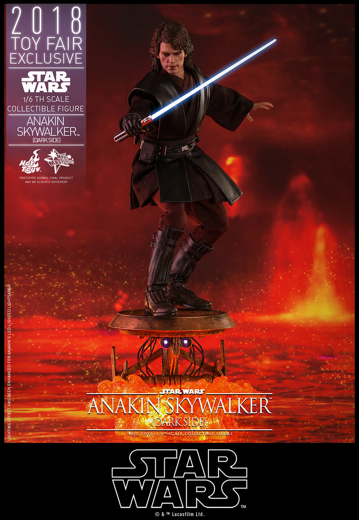 """You Underestimate My Power!"" Hot Toys – MMS486 – Star Wars Episode III: Revenge of the Sith - 1/6th scale Anakin Skywalker (Dark Side) Collectible Figure [Toy Fair Exclusive]"
