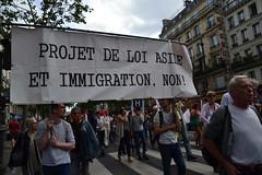 Projet de loi asile immigration, non