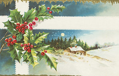 """""""A Merry Christmas"""" Postcard from E. Nash (Firm) (1910)"""