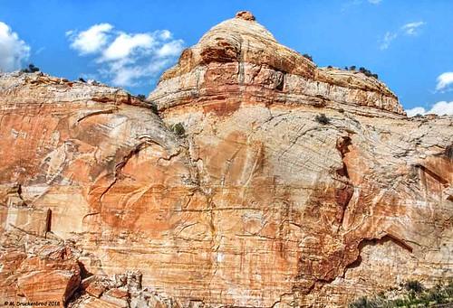 Hogsback Ridge Sandstone Formations along Scenic Highway 12, Escalante