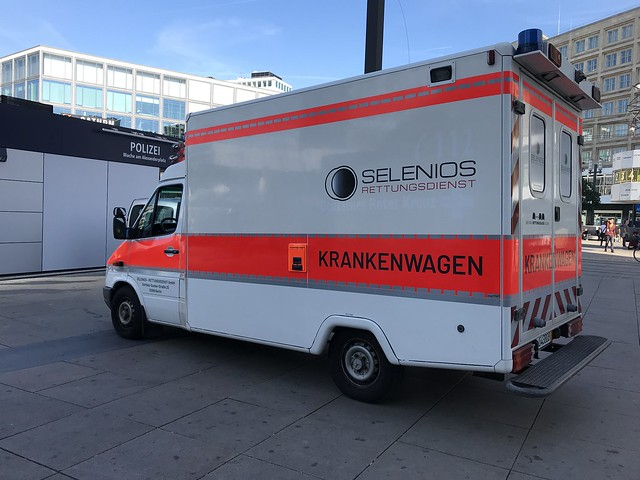 Mercedes Benz 312D Sprinter Ambulance - Krankenwagen - Berlin, Germany.