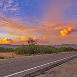 15. Juuni 2018 - 19:54 - Anza-Borrego Desert sunset over Highway 78 near the Banner Grade on the evening of June 15, 2018. This is a single frame the the timelapse video I posted the other day.