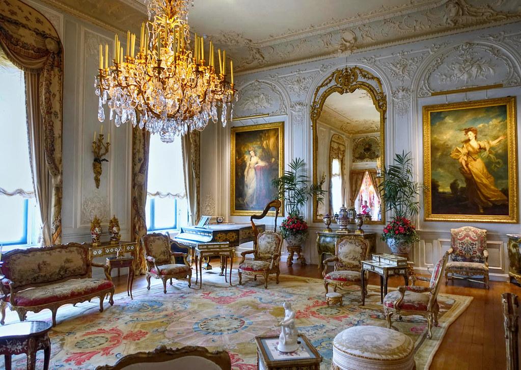 The Grey Drawing Room at Waddesdon Manor, Buckinghamshire