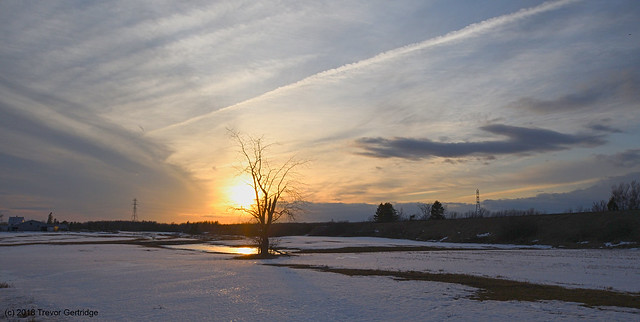 April 3rd sunset in Allison