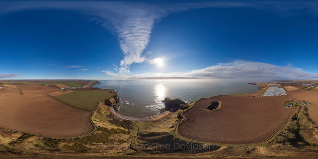 Auchmithie and Castlesea bay - Aerial Photosphere 09-04-2018b