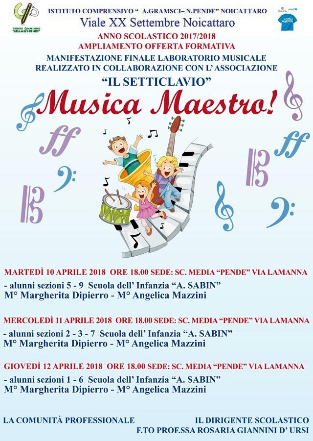 Noicattaro. musica maestro intero
