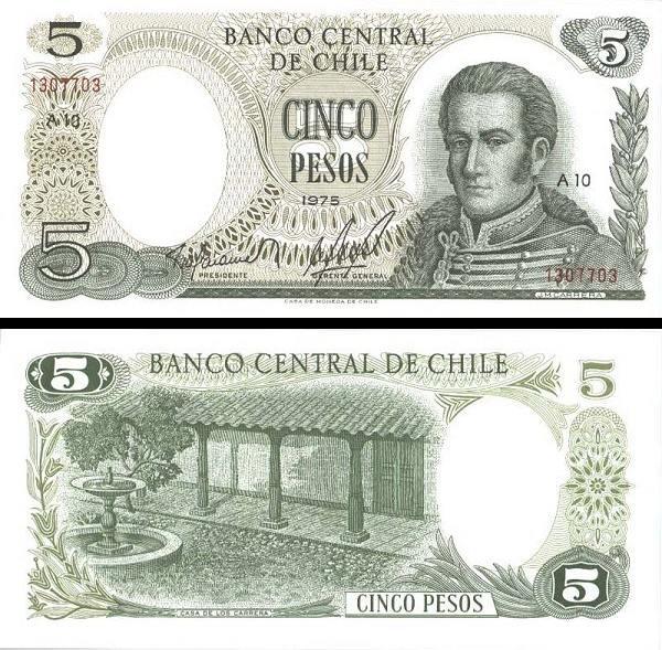 5 Pesos Čile 1975, P149