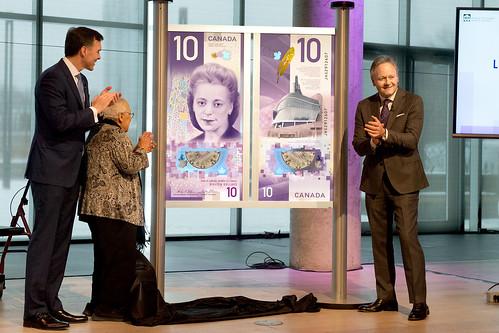 Unveiling Canada Viola Desmond banknote