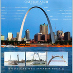 Image de Gateway Arch près de St. Louis. gatewayarchstlouismo architecteerosaarinen eerosaarinen gatewayarchnationalparkstlouismo jeffesonnationalexpansionmemorialstlouismo gatewayarchfactsandviewsstlouismo roncogswell