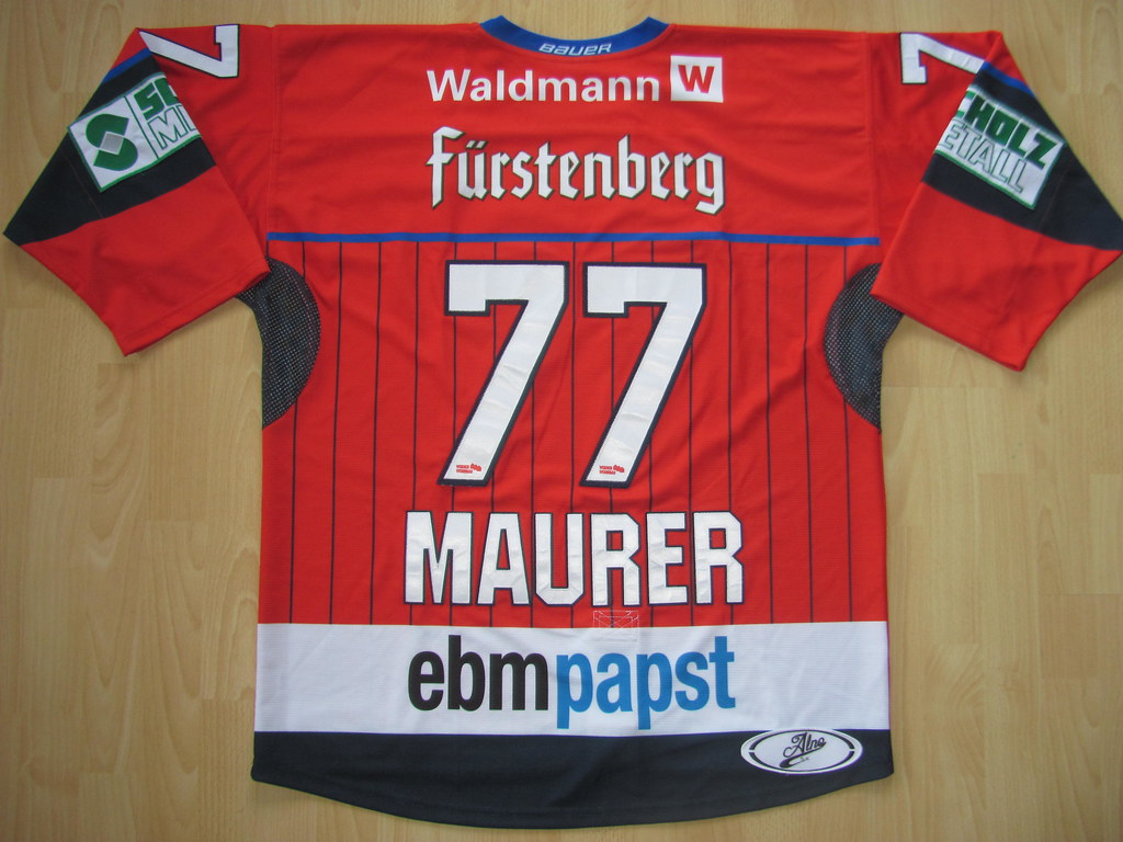 SERC Wild Wings 2017 - 2018 alternate Game Worn Jersey ·  77 Uli MAURER Game  Worn Jersey f29413895