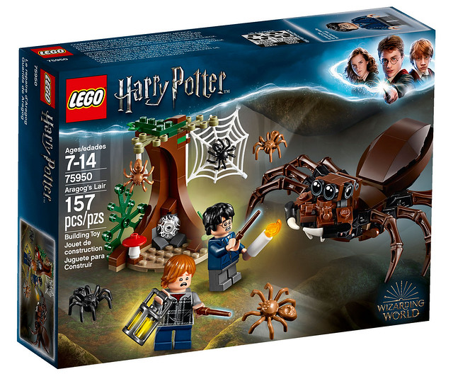 就算是用樂高做的,蜘蛛還是好恐怖啊~~ LEGO 75950《哈利波特》阿辣哥的巢穴 Aragog's Lair