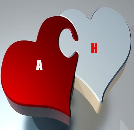 صور رومانسية 2019 صور حرف A مع H بعض صور A و H رومانسية حب خلفيات قلب جديدة 2018 حب و عشق