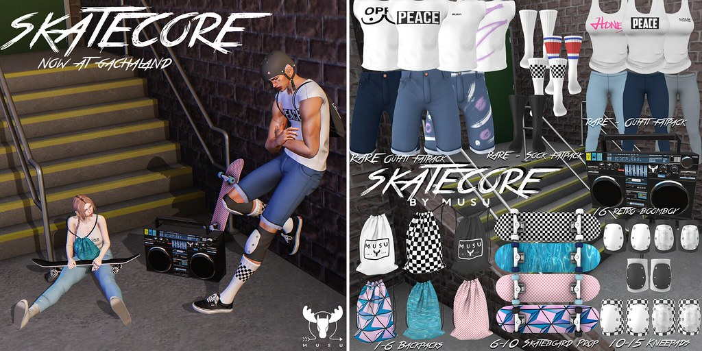 -MUSU- Skatecore Gacha! @ Gachaland April 1st - TeleportHub.com Live!
