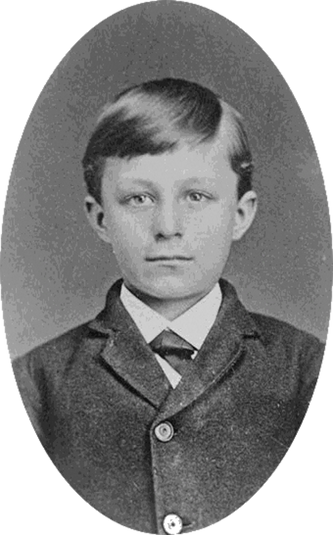 Portrait of Wilbur Wright aged 10, circa 1877.