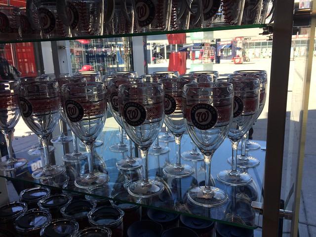 Nats plastic wine glasses