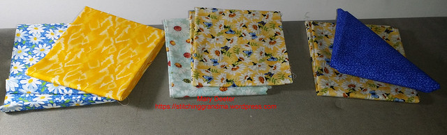 Fat Quarter pairs for Safelight project