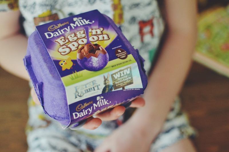 Cadbury Egg and Spoon