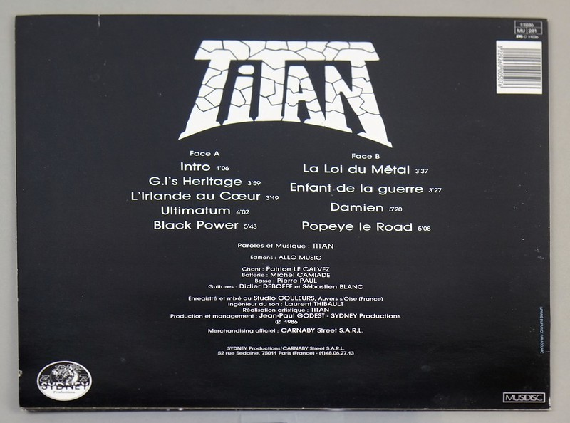 "TITAN - S/T Self-Titled OIS France SPEED METAL 12"" LP VINYL"