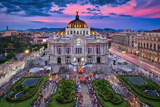 Bellas Artes Palace & Sunset