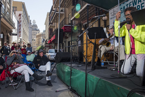 Rhodes Spedale & Live Jazz Group perform during French Quarter Fest 2018 on April 15, 2017. Photo by Ryan Hodgson-Rigsbee RHRphoto.com