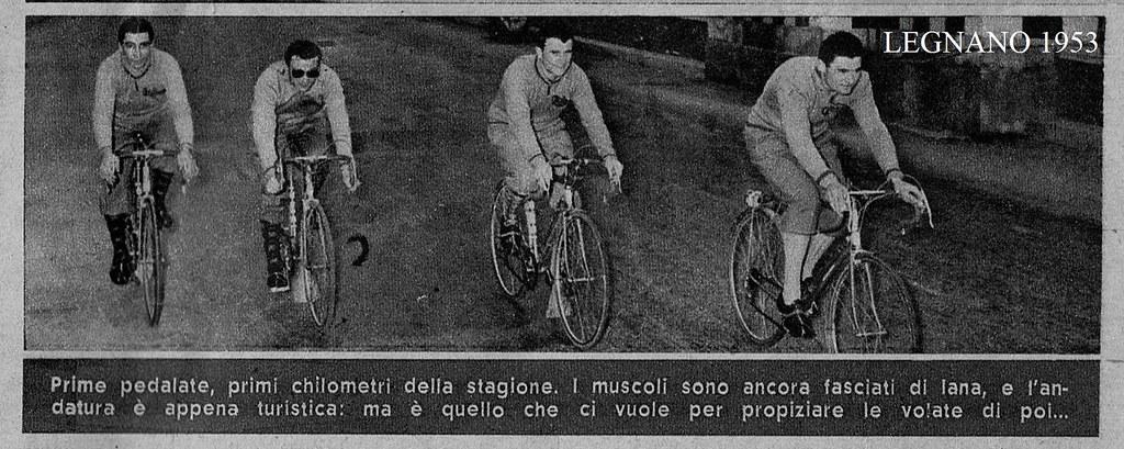 Legnano 1953 prime pedalate (foto inviata dal figlio Marco)