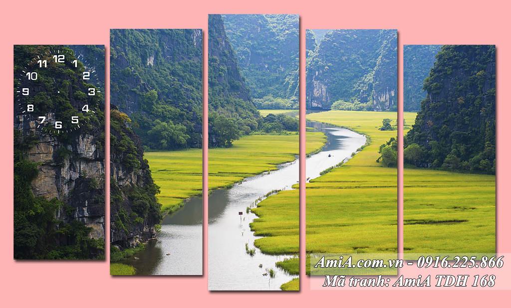 AmiA 168 - Tranh phong cảnh đẹp quê hương Tràng An Ninh Bình