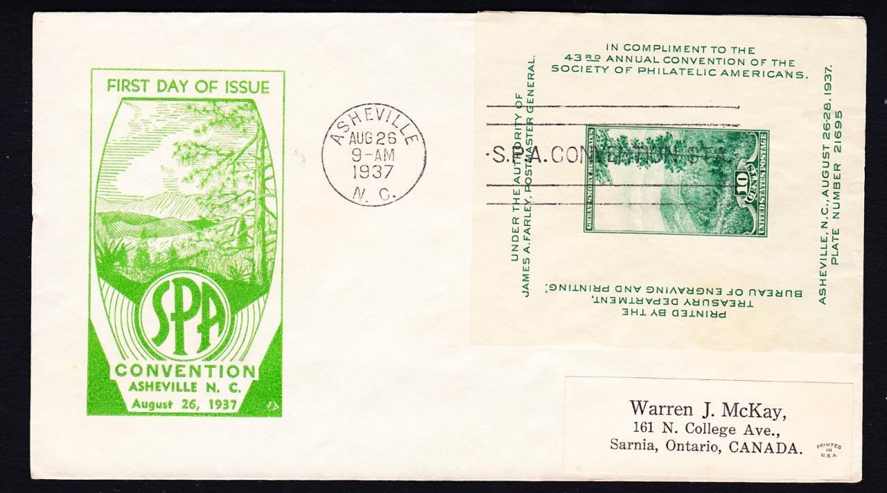 First day covers for United States Scott #749 (1934) and #797 (1937). I don't have a cover for Scott #765 (1935).