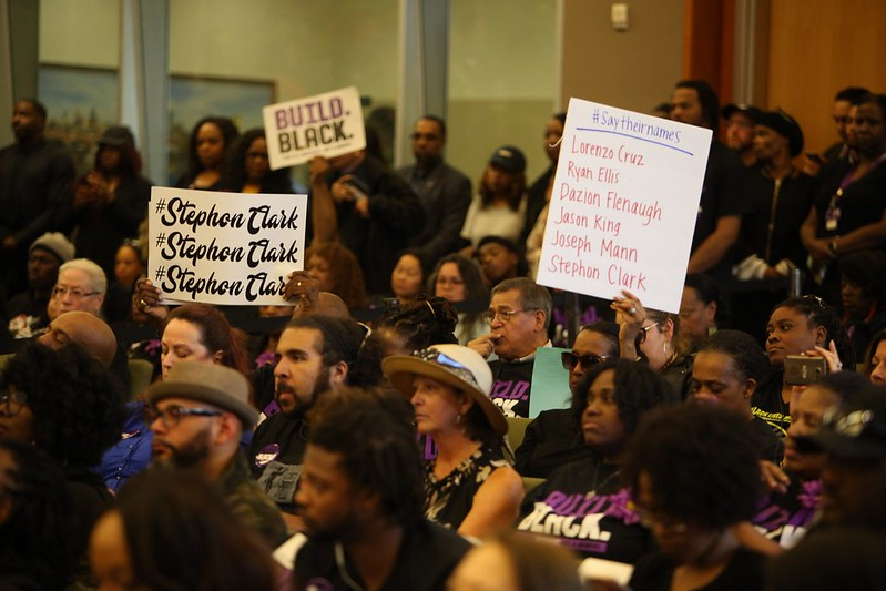 City Hall open-forum on the shooting of Stephon Clark