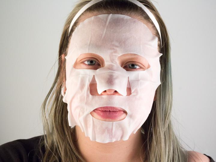 Masker aangebracht