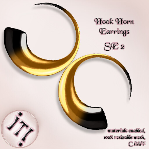 !IT! – Hook Horn Earrings SE 2 Image