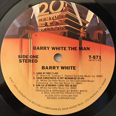 BARRY WHITE:BARRY WHITE THE MAN(LABEL SIDE-A)