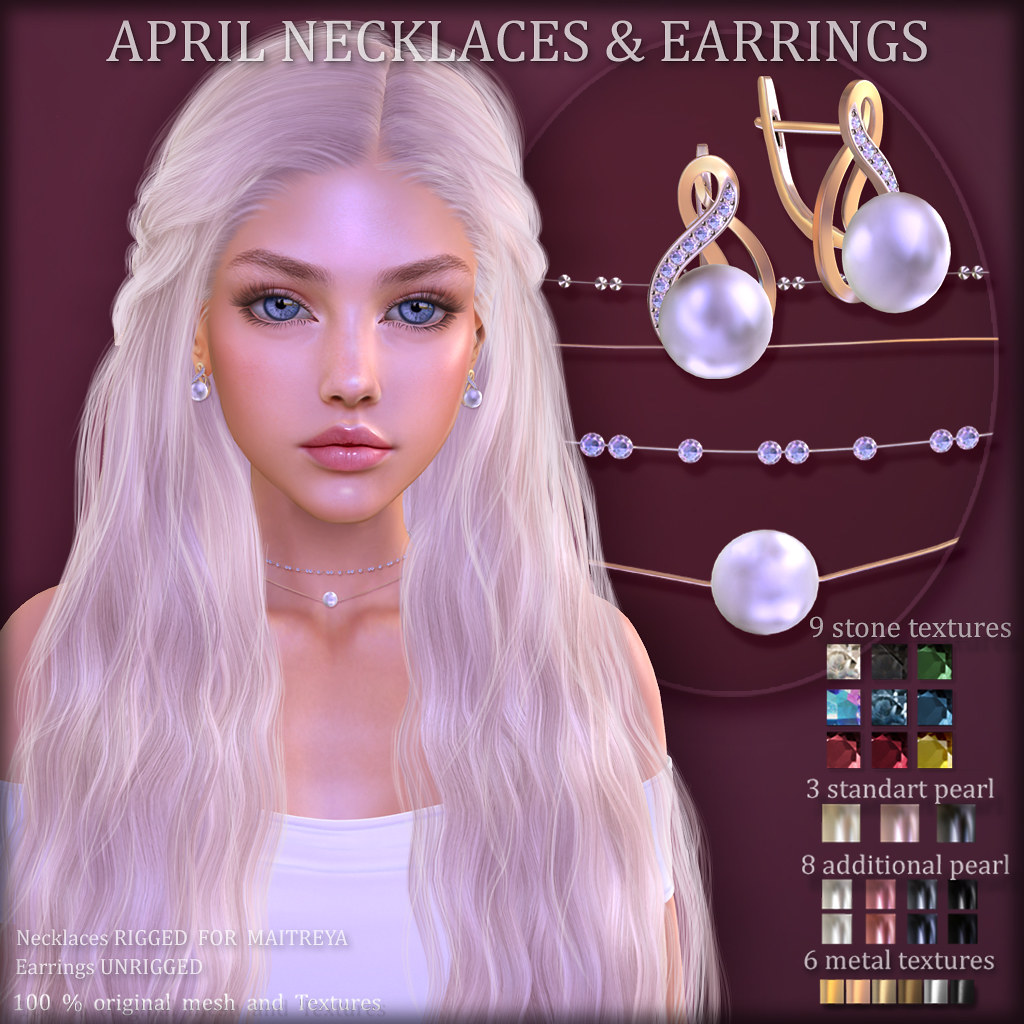 APRIL NECKLASES & EARRINGS (at COSMOPOLITAN)