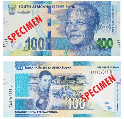 South Africa Mandela R100 banknote