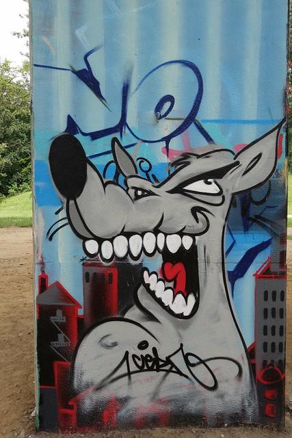 Graffiti/streetart at Neerpede (Belgium)