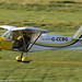 G-CCBG - 2002 build Best Off Skyranger, arriving on Runway 26L at Barton, part of the LAA 70th Anniversary Tour