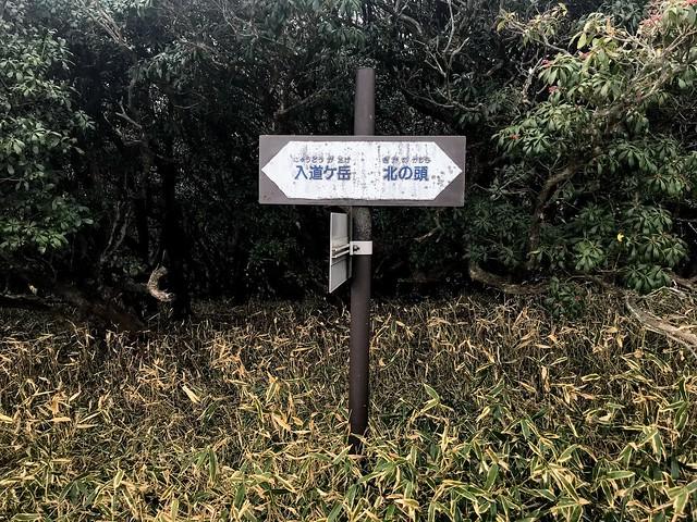 入道ヶ岳 井戸谷・北尾根合流
