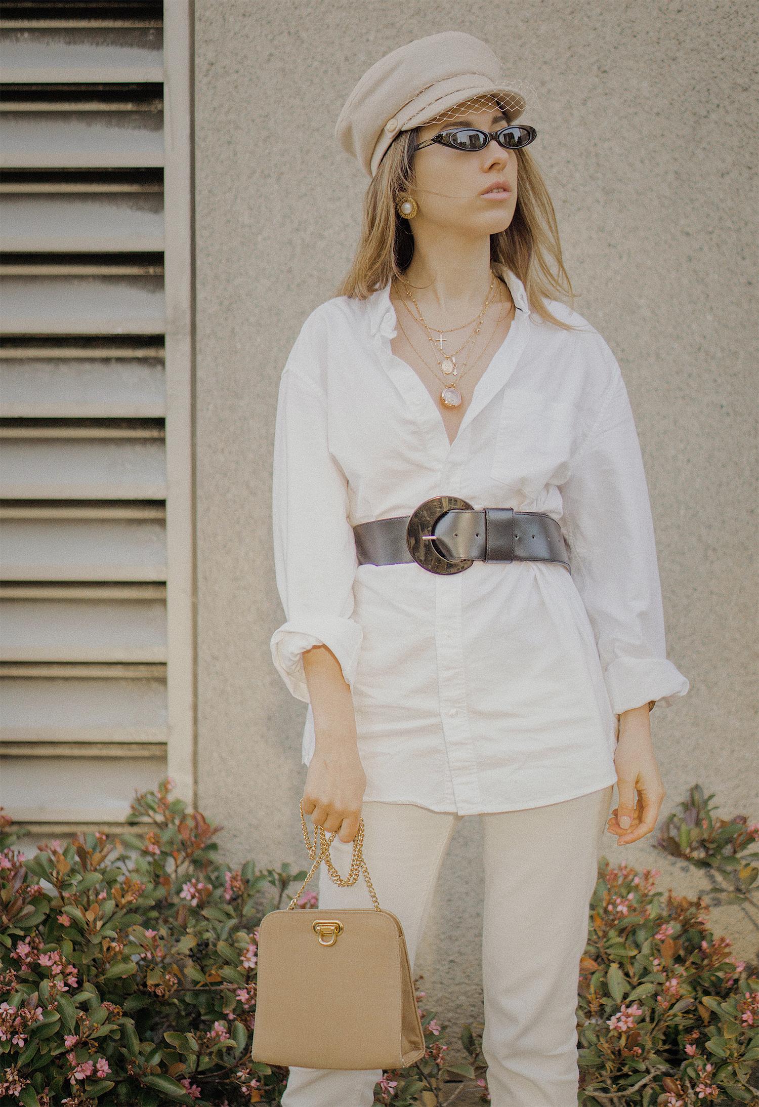 white_jeans_white_oversized_belted_man_cotton_shirt_vintage_bag_kitten_heel_cap_lenajuice_thewhiteocean_06