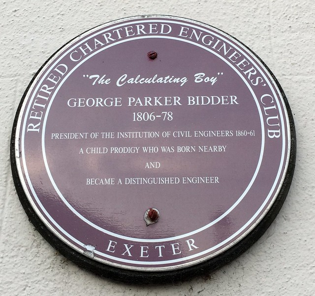Photo of George Parker Bidder brown plaque