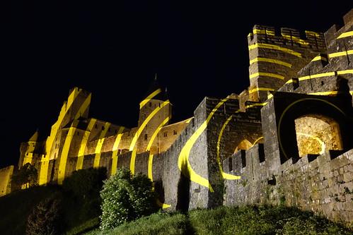 """'Eccentric Concentric Circles"""" - Cercles concentriques excentriques - Cité de Carcassonne - Carcassonne, France"""