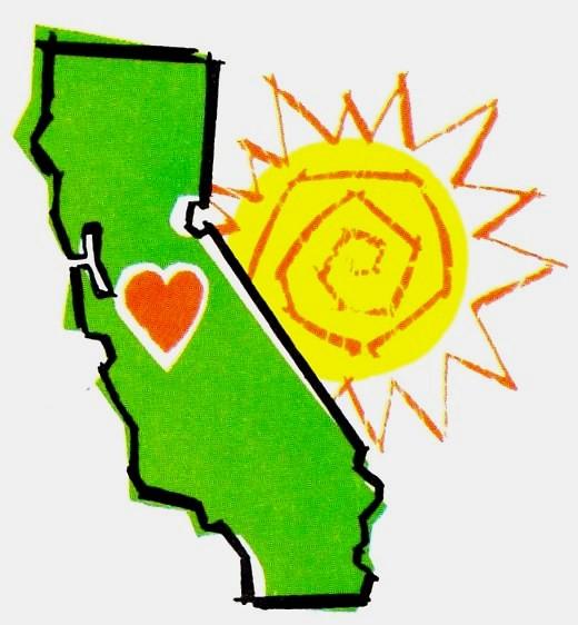 State of California Illustration 1960s