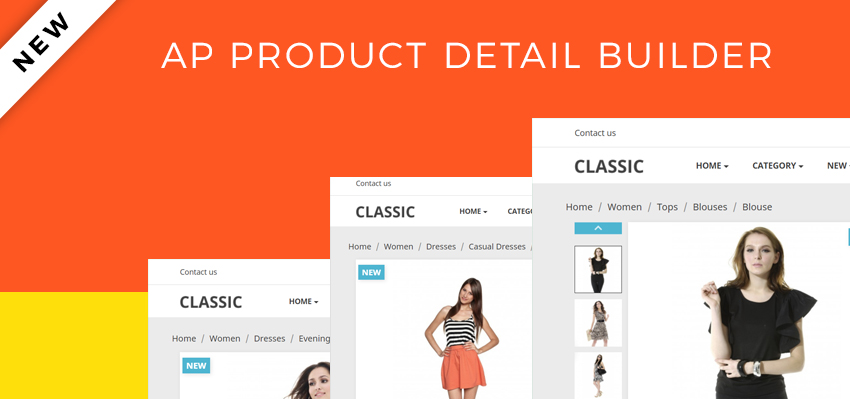 create product detail page with Ap Page Builder module