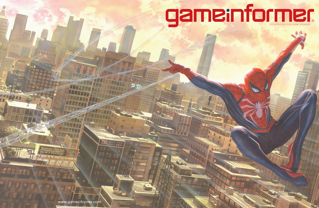 Game Informer cover: Marvel's Spider-Man
