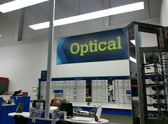 Another peek near the remodel's end: new optical department sign