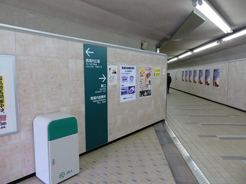 福島競馬場の内馬場通路の分岐点