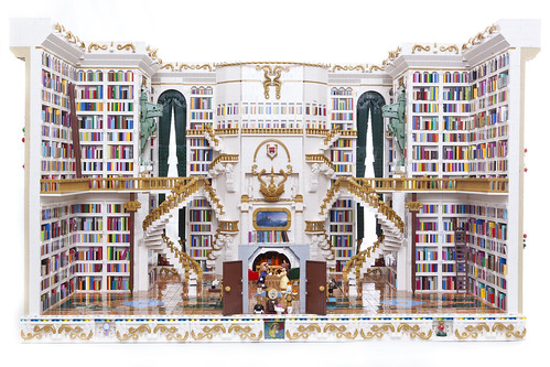Beauty and the Beast Lego Library