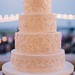 Wedding Cakes : Photo: By the Robinsons; Love this lace-inspired wedding cake!